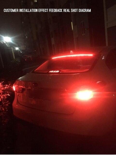 Купить 12v car led strip brake lights auto rear tail warning lighting картинки