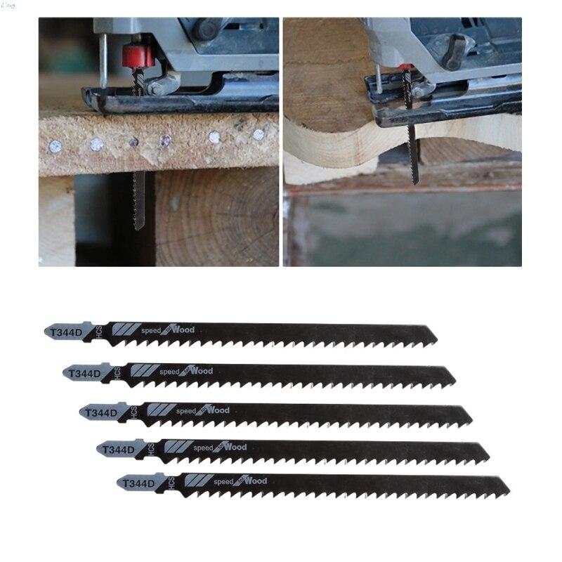 5Pcs/Set 152mm T344D Saw Blades Clean Cutting For Wood PVC Fibreboard Saw Blade L29K