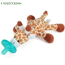 COZINESS Baby Pacifier Toys Newborn Baby Handing Animal Plush Pacifiers Multicolor Cartoon Silicone Pacifier Infant Training