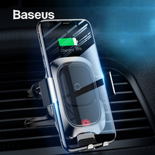 Baseus 10W Wireless Car Charger Phone Holder For iPhone XR Samsung Note 9 S9 Smart Sensor Wireless Car Phone Charger Holder