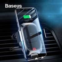 Baseus 10W Drahtlose Ladegerät Auto Telefon Halter Für iPhone XR Samsung Hinweis 9 S9 Smart Sensor Drahtlose Auto Telefon ladegerät Halter