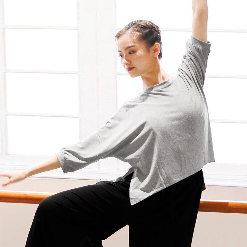 Women Batwing Blouse Half Sleeve Yoga Tops Solid Shirt Workout Cotton Shirt Plus Size Yoga Clothing