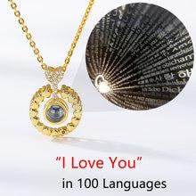 Colliers quatre cœurs pour femmes, bijoux d'amitié pour toujours, 100 langues, Projection i Love You, qualité supérieure