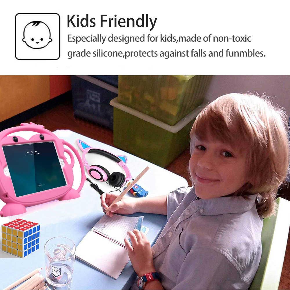 Enfant sécurité tablette étui pour iPad mini 1 2 3 4 5 enfant amical transporter antichoc 7.9in lavable support coque en silicone pour iPad 2/3/4