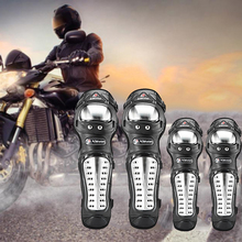 4pcs/set Breathable Adjustable Elbow Knee Sleeve Pads Durable Protector Brace Outdoor Cycling Protective Guard Set