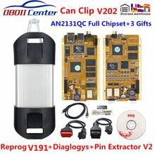 2020 para renault pode clipe completo chip qc2131 obdii scanner interface de diagnóstico mais recente v200 canclip obd2 reparação ferramenta reprog v189
