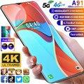 Smartphone A91 MTK6799 Deca Core Handy 6,7 zoll HD + Wasser Tropfen Bildschirm handy 4GLTE 5G 8GB + 512GB Kamera 13MP + 24MP