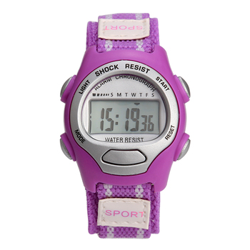 цена на boys girls Sports Watches stopwatch Alarm Chrono Digital watch waterproof sport watch digital nylon band small kids suitable