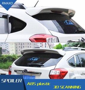 Para Subaru XV Spoiler ABS Material alerón trasero de coche con imprimación de Color alerón trasero presione la cola para Subaru XV Spoiler 2013-2016