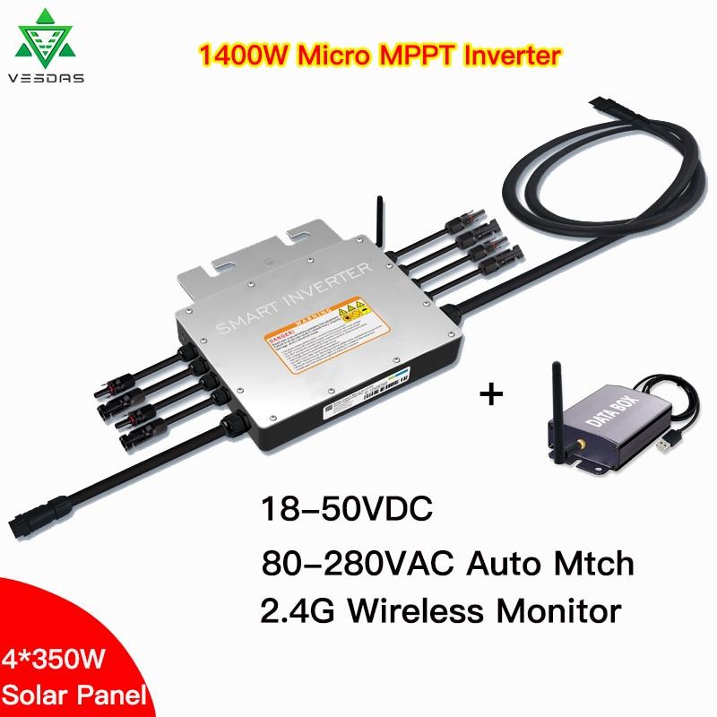 1400w ip65 solar grid tie micro inversor sg1400 mppt microinversor inversor 24v 36v dc 110v 220vac