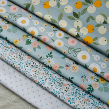 160x50cm Antique Gray Green Classical Floral Pure Cotton Twill Fabric making Dormitory Tablecloth Skirt Clothing cloth