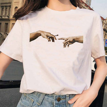 Grunge Graphic T-shirt T Shirt Hands Femme Vintage Women Harajuku Tshirt 90s Aes