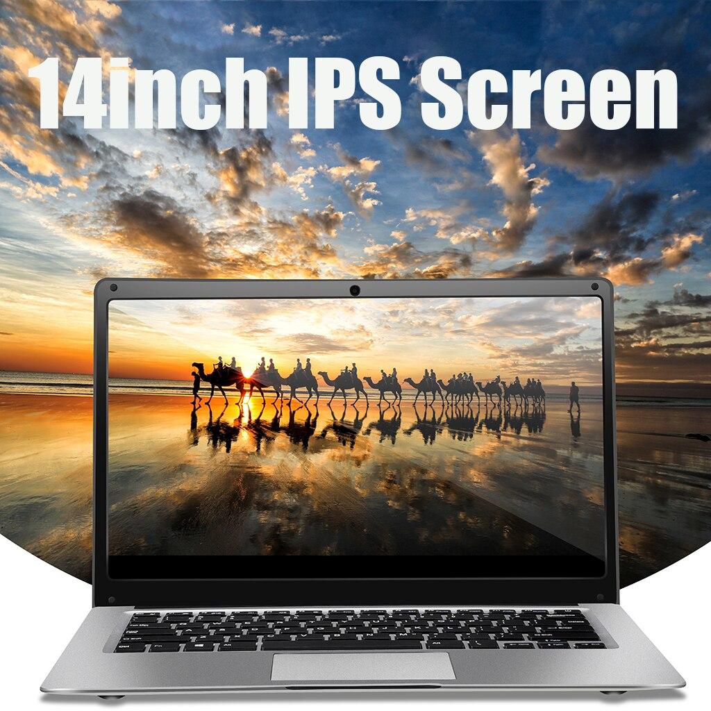 Laptop 14 Inch 4G RAM 64GB SSD Portable Ultra-Thin Laptop HD Quad Core Notebook 1.6 GHz EU Plug