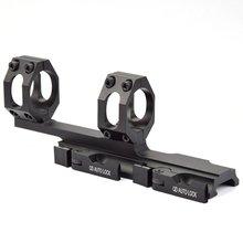 Qd automático de liberação rápida rifle escopo montagem anéis 30mm/25mm cantilever para 20mm picatinny ferroviário óptica