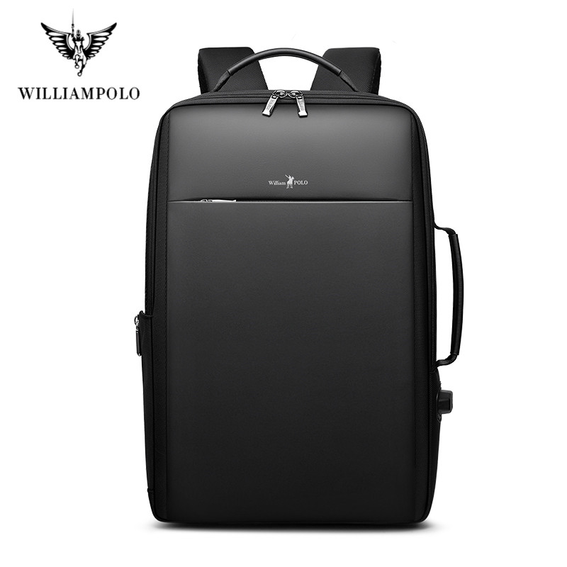 Brand Enlarge Backpack USB External Charge 15.6 Inch Laptop Backpack Shoulders Men Anti-theft Waterproof Travel Backpack