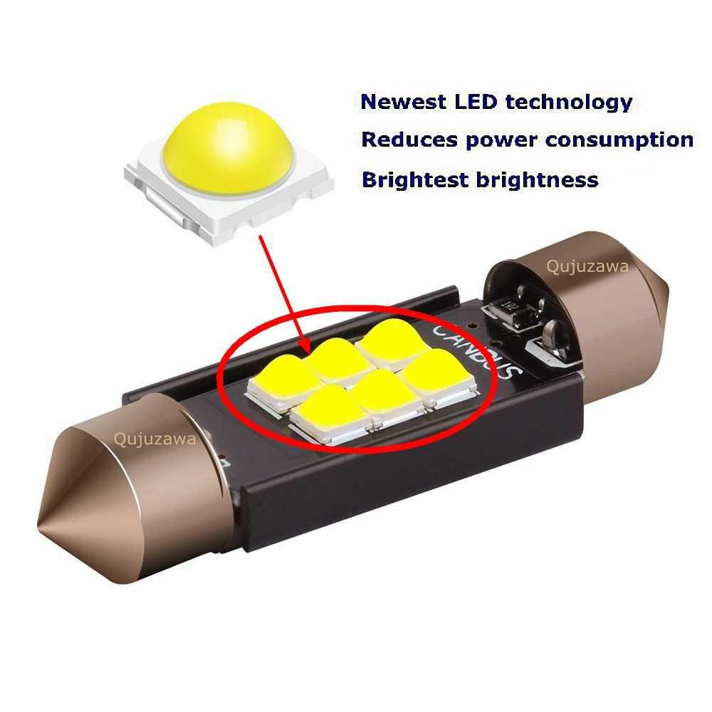フェストゥーン 31 ミリメートル 36 ミリメートル 39 ミリメートル 41 ミリメートル高品質超高輝度led電球C5W車ドームライトcanバスエラーなしインテリア読書ランプ