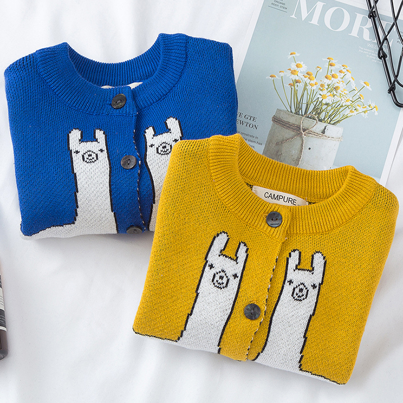 Autumn Family Matching Clothes Women's Baby Boy Girl Cartoon Animal Pattern Long Sleeve Sweaters Mother Son Daughter Outfits 1