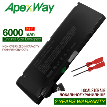 Apexway 10.95 v 65.7wh a1322 laptop battery for apple macbook pro 13 a1278 mid 2009 2010 2011 2012 6000 mAh 63 5wh 10 95v a1322 a1278 battery for apple a1322 apple macbook pro 13 2009 2010 2011 mb991ll a mb990ll a mb990j a mc700 mc724