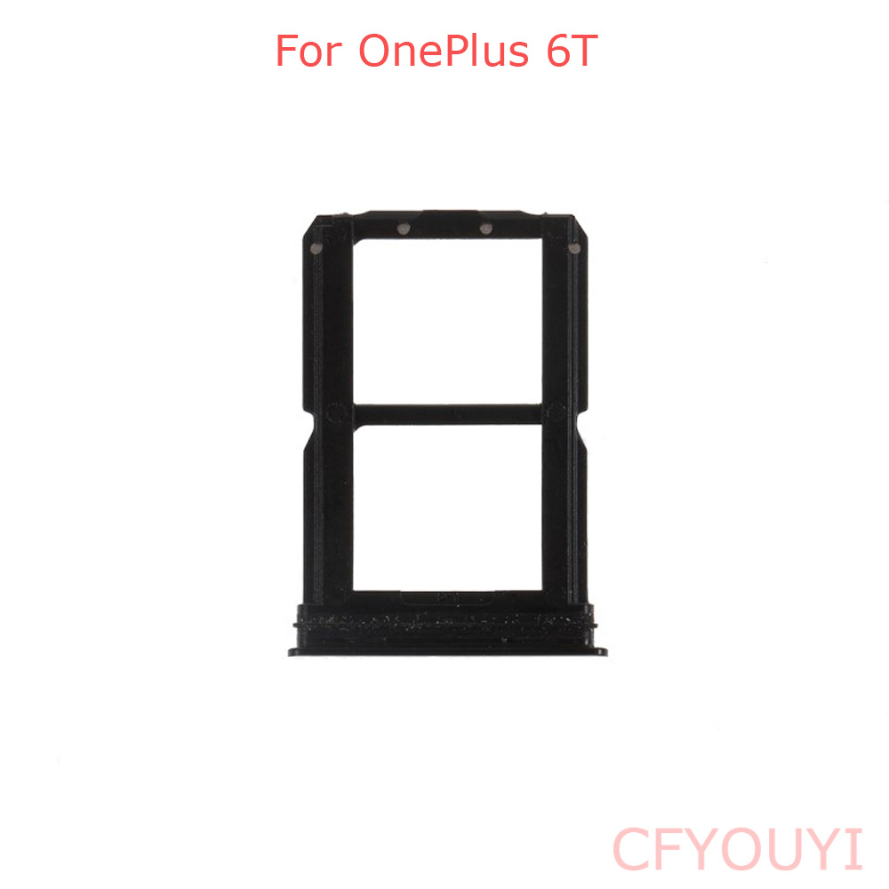 For One Plus 6T Dual SIM Card Tray Holder Slot Replacement Part For 1+ 6T
