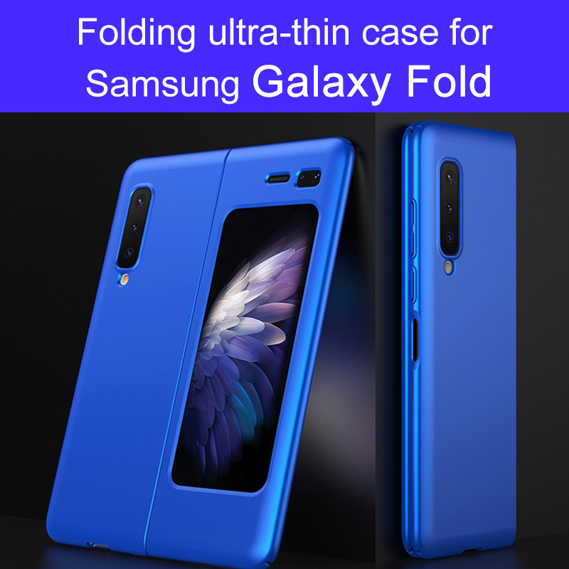 Original For Samsung Galaxy Fold Case Anti-knock Full Protection Ultra-thin Flip Matte Hard PC Cover For Samsung Fold Coque