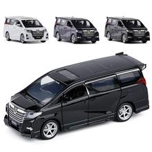 1/32 Mini Diecast Pull back Car for Alphard Model with Light Music Toy Model Baby Cars Gift gift for children Cognitive toys 6pcs set pull back car toys mobile machinery shop construction vehicle cartoon lovely model baby mini cars gift children toys
