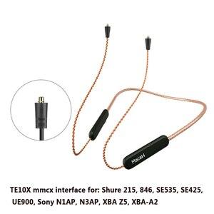 Image 1 - Bluetooth 5.0 Aptx ll שדרוג כבל Mmcx 0.78mm 2pin A2dc Ie80 IM40 מחבר עמיד למים חמצן משלוח נחושת שדרוג כבל
