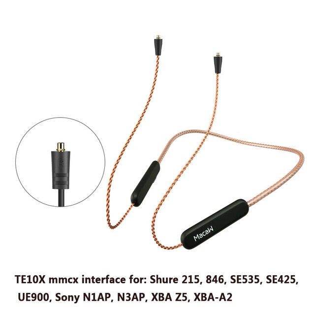 Bluetooth 5.0 Aptx ll שדרוג כבל Mmcx 0.78mm 2pin A2dc Ie80 IM40 מחבר עמיד למים חמצן משלוח נחושת שדרוג כבל