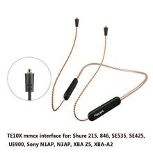 Bluetooth 5.0 Aptx ll yükseltme kablosu Mmcx 0.78mm 2pin A2dc Ie80 IM40 konektörü su geçirmez oksijen içermeyen bakır yükseltme kablo
