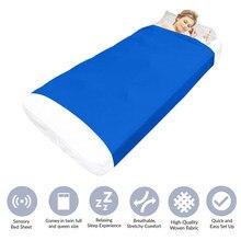 Sensory prześcieradło oddychająca rozciągliwa blacha kompresyjna fajne łóżeczko dla dzieci kompresja alternatywa dla koców 2021