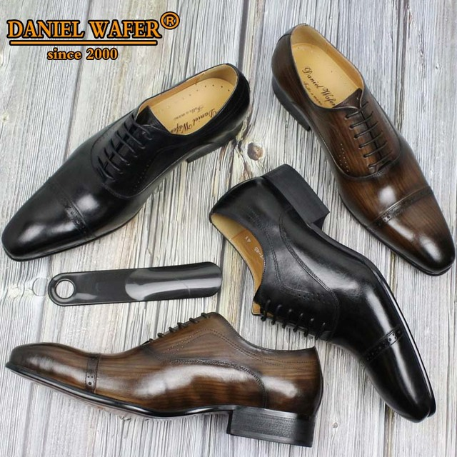 GENUINE LEATHER OXFORD DRESS SHOES  1