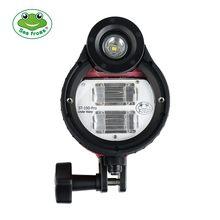 Seafrogs-Flash estroboscópico LED impermeable de 100M para cámaras subacuáticas Sony, Nikon, Canon, Olympus, Fuji, carcasa de buceo ST-100 Pro