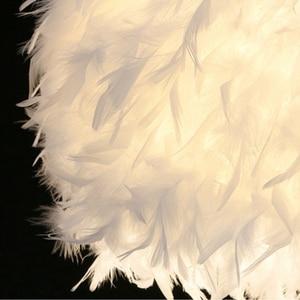 Image 4 - 220 v 現代ペンダント天井ランプ羽天井つりランプの寝室の勉強部屋の装飾クリエイティブシャンデリアハンギングランプ