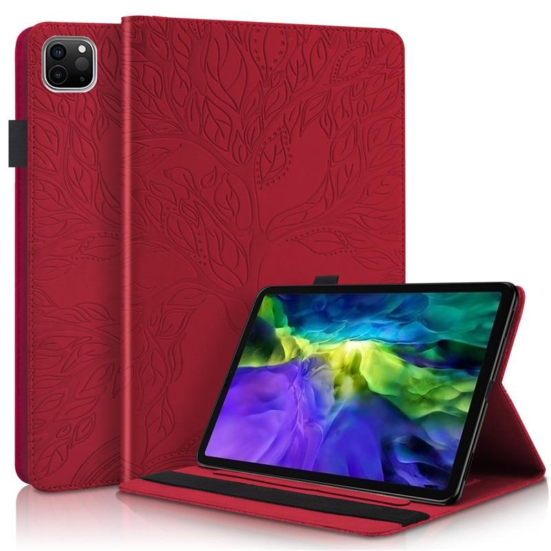 Stand-Tablet Emboss-Tree Wallet 11 Funda Pro iPad for Flip-Case Coque
