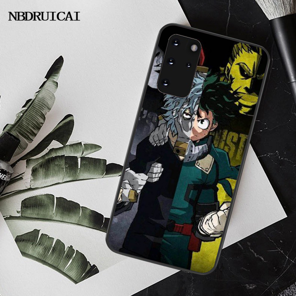 NBDRUICAI My Hero Academia Coque Shell حقيبة لهاتف سامسونج S20 plus Ultra S6 S7 edge S8 s9 plus S10 5G