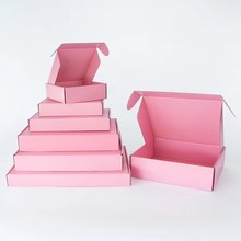 5pcs / 10pcs / pink gift box festival celebration packing box 3-layer corrugated box supports customized size and printing logo