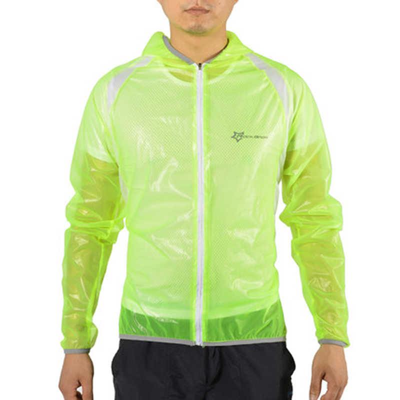 ROCKBROS Tahan Air Bersepeda Jas Hujan Jalan MTB Sepeda Bersepeda Jersey Sepeda Pakaian Jas Hujan RAIN COAT Windproof Ropa Ciclismo