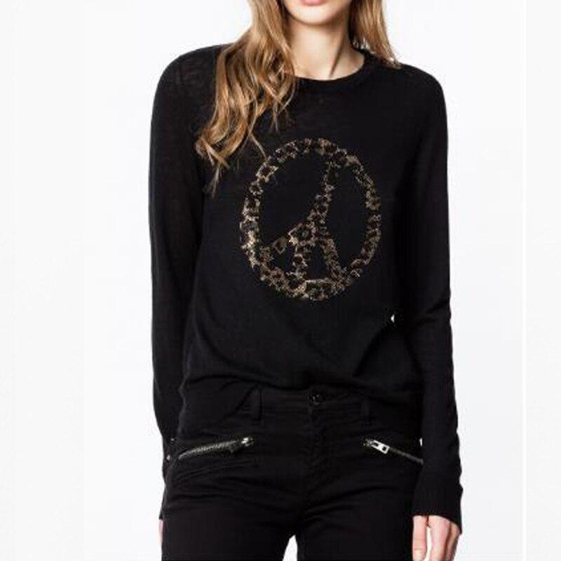 여성 스웨터 2019 가을과 겨울 스티어링 휠 뜨거운 드릴링 성숙한 패션 순수 캐시미어 스웨터 여성-에서풀오버부터 여성 의류 의  그룹 1