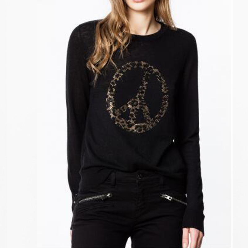 Maglione delle donne 2019 Autunno e di Inverno Dello Sterzo Ruota di Perforazione a Caldo di Modo Maturo Puro Maglione di Cachemire Delle Donne-in Pullover da Abbigliamento da donna su  Gruppo 1