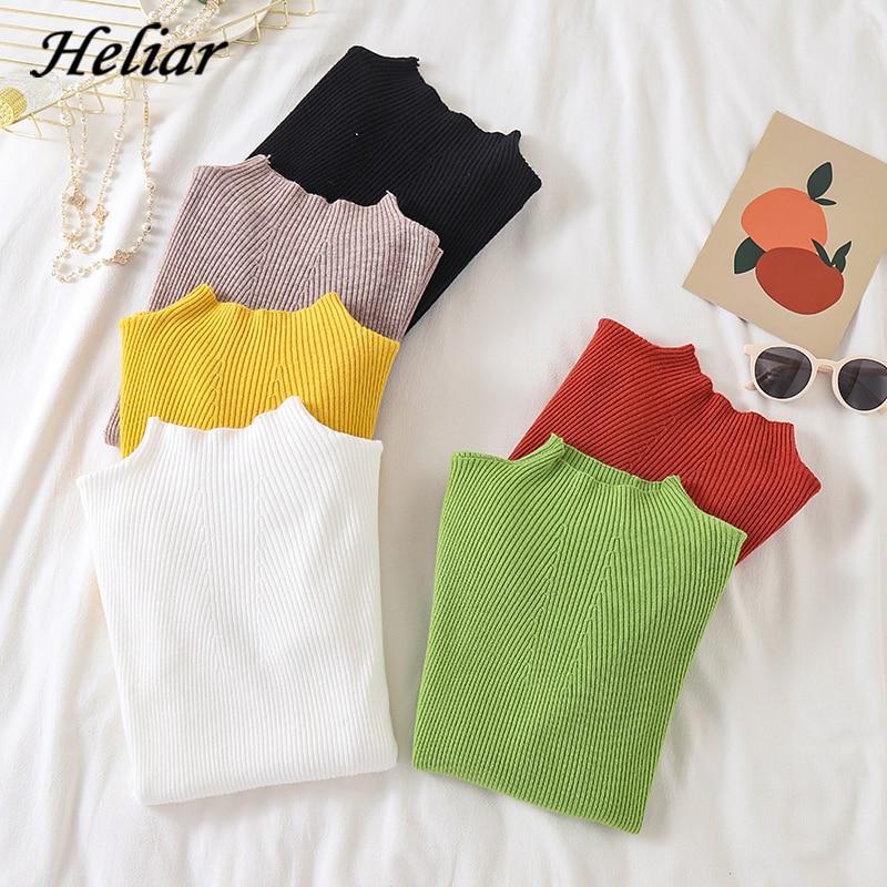 Heliar Women O-neck Pullovers 2019 Fall Women Knit Sweaters Casual Long Sleeve Winter Underwear Sweater