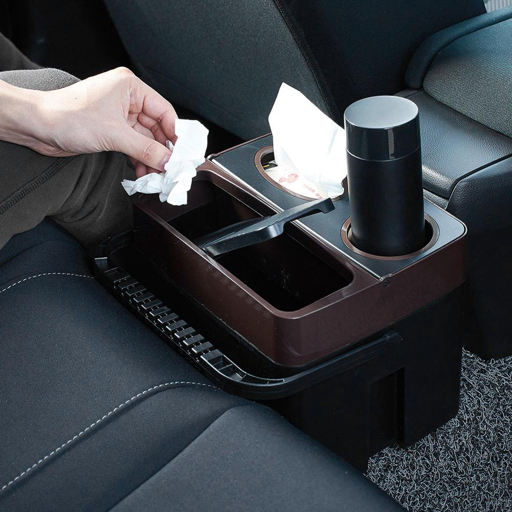 Multi-functional Car Interior Trash Can Passenger Trash Can Storage Box Beverage Cup Holder Storage Box Car Paper Napkin Holder
