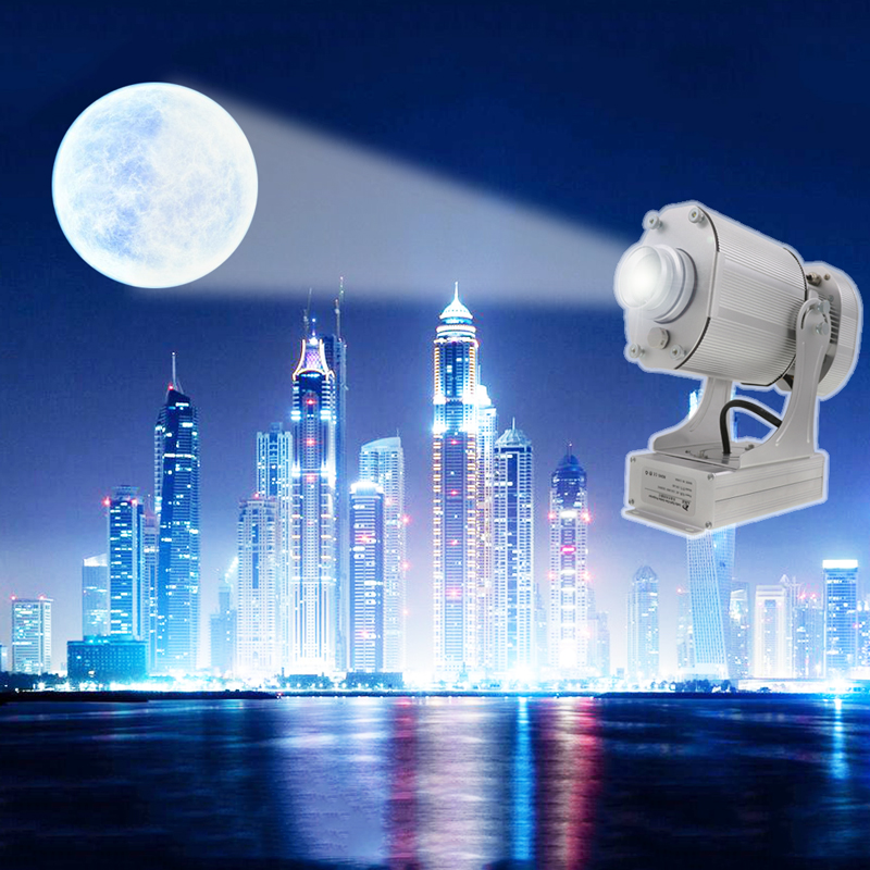 LDLG led para publicidad al aire libre 80W imágenes estáticas proyección luz Logo personalizado 90 ~ 240V EU UK US Plug un año de garantía|Luces publicitarias| |  -