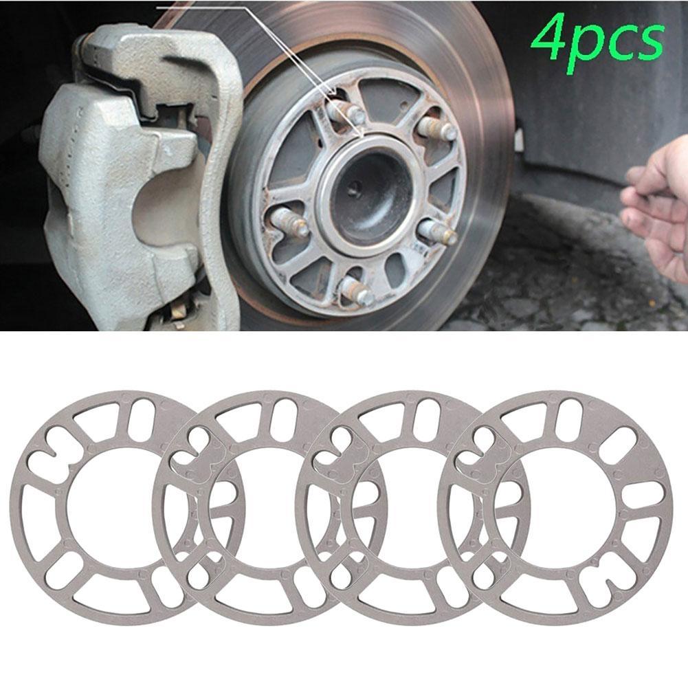 4PCS Universal 3mm 5mm 8mm 10mm Aluminum Car Wheel Spacer Shims Plate Fit 4x100 4x114.3 5x100 5x108 5x114.3 5x120