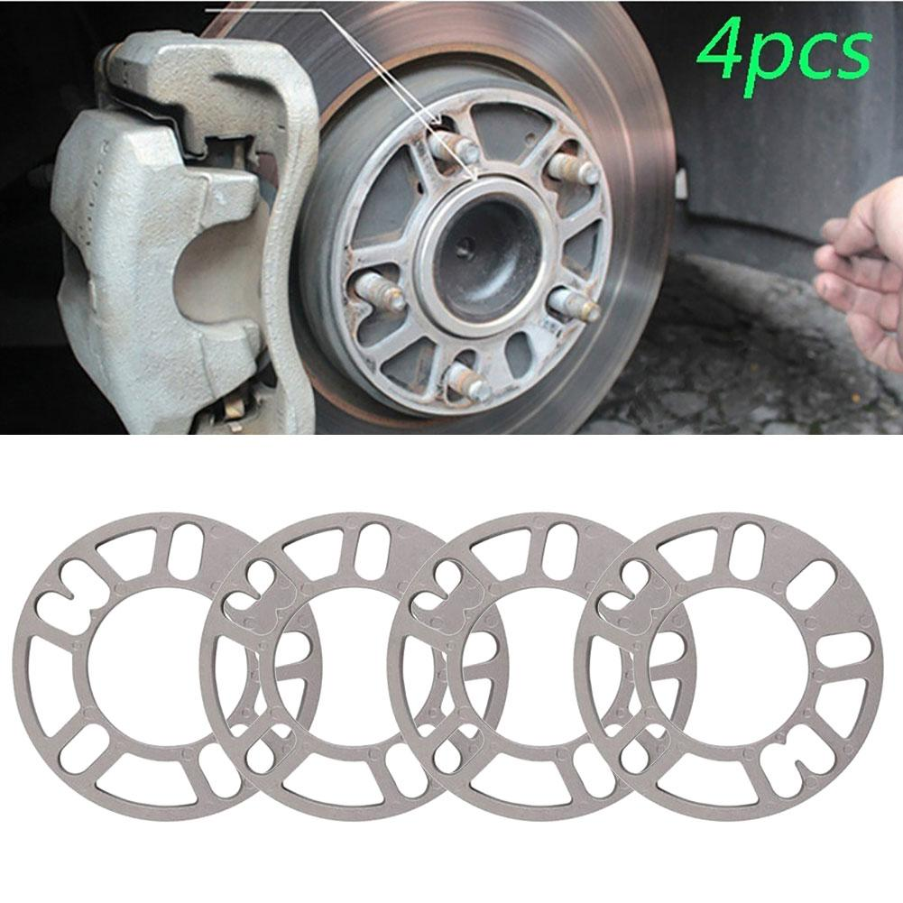 4PCS Universal 3mm 5mm 8mm 10mm Aluminum Car <font><b>Wheel</b></font> <font><b>Spacer</b></font> Shims Plate Fit 4x100 4x114.3 5x100 5x108 <font><b>5x114.3</b></font> 5x120 image