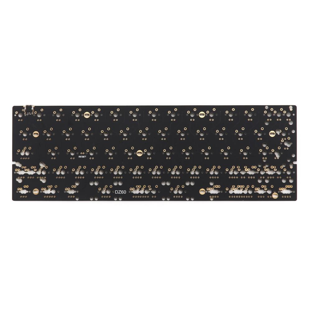 DZ60 Custom Mechanical Keyboard PCB 60% Keyboard Support Arrow Key Alu Plate Gateron Switch Stab