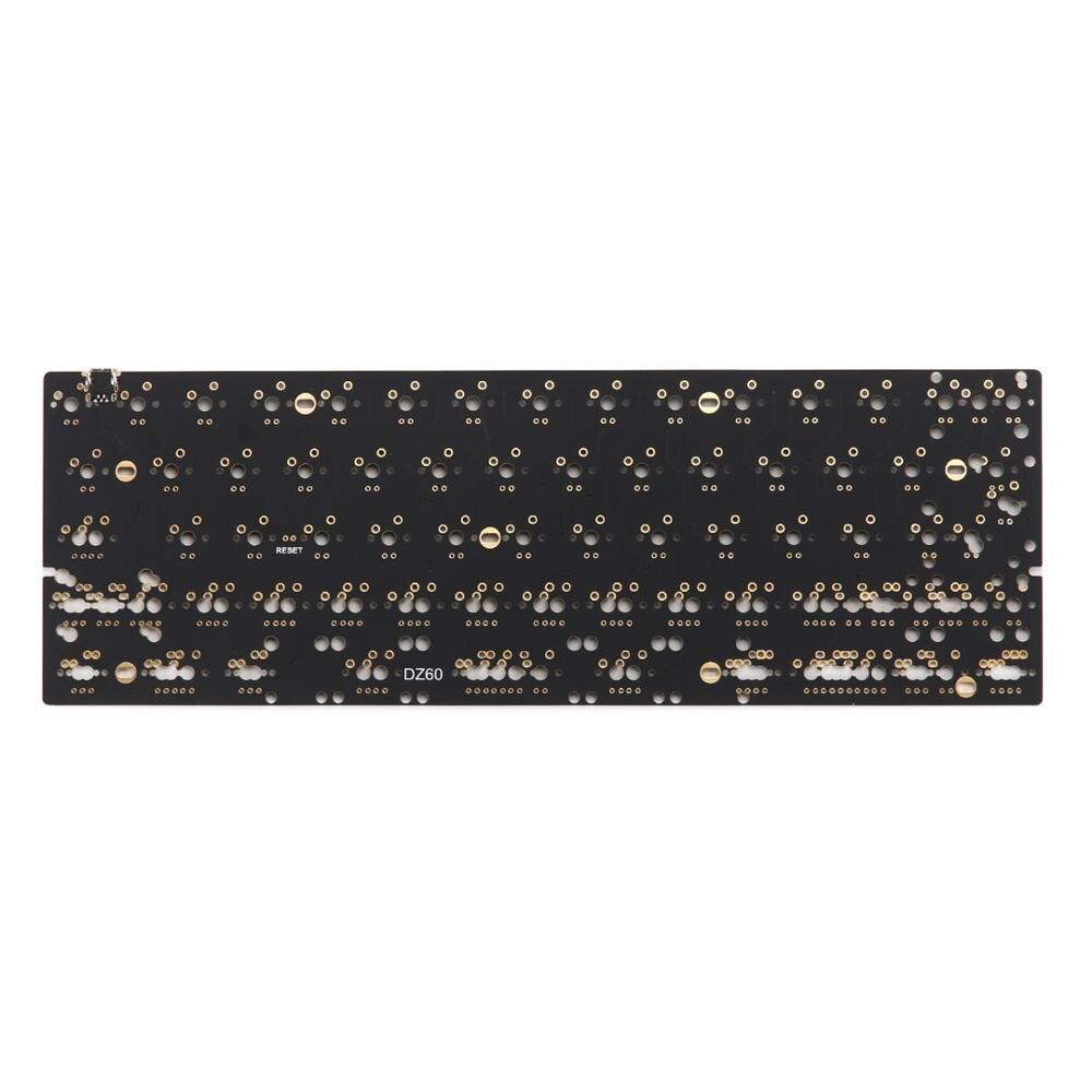 DZ60 personnalisé clavier mécanique PCB 60% clavier support flèche plaque alu gateron commutateur stab