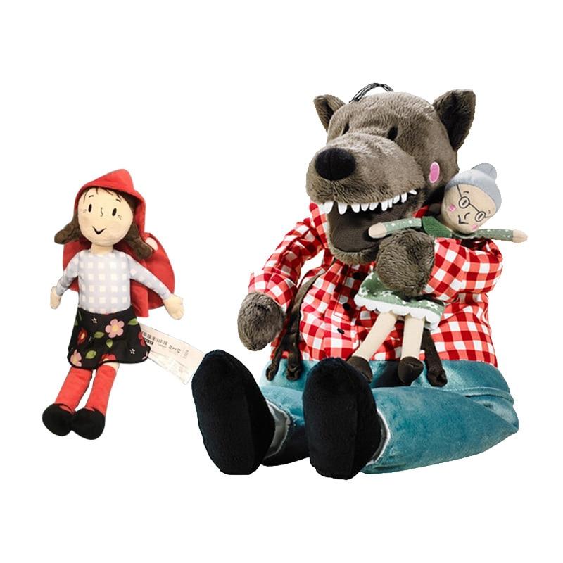 45 см Lufsig новая плюшевая бабушка волка 30 см маленький красный капот игрушка мягкий Волк и бабушка Кукла подарок