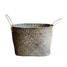 Большие соломенные корзины для хранения грязной одежды корзины ручной работы декоративные корзины для ванной комнаты