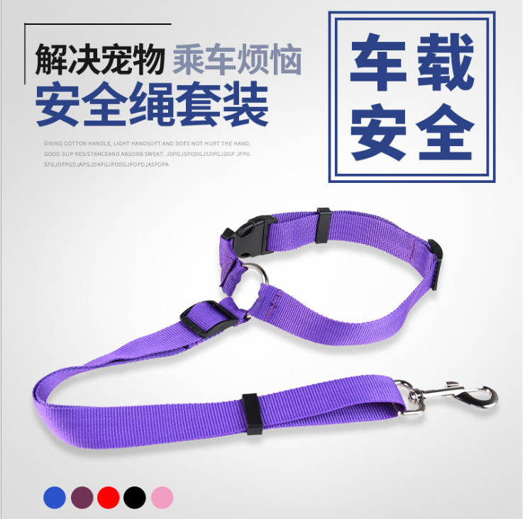 Hot Sales Pet Car Mounted Safe Rope Circular Ring Dog Automobile Safety Belt Back Seat Traction Belt Hand Holding Rope