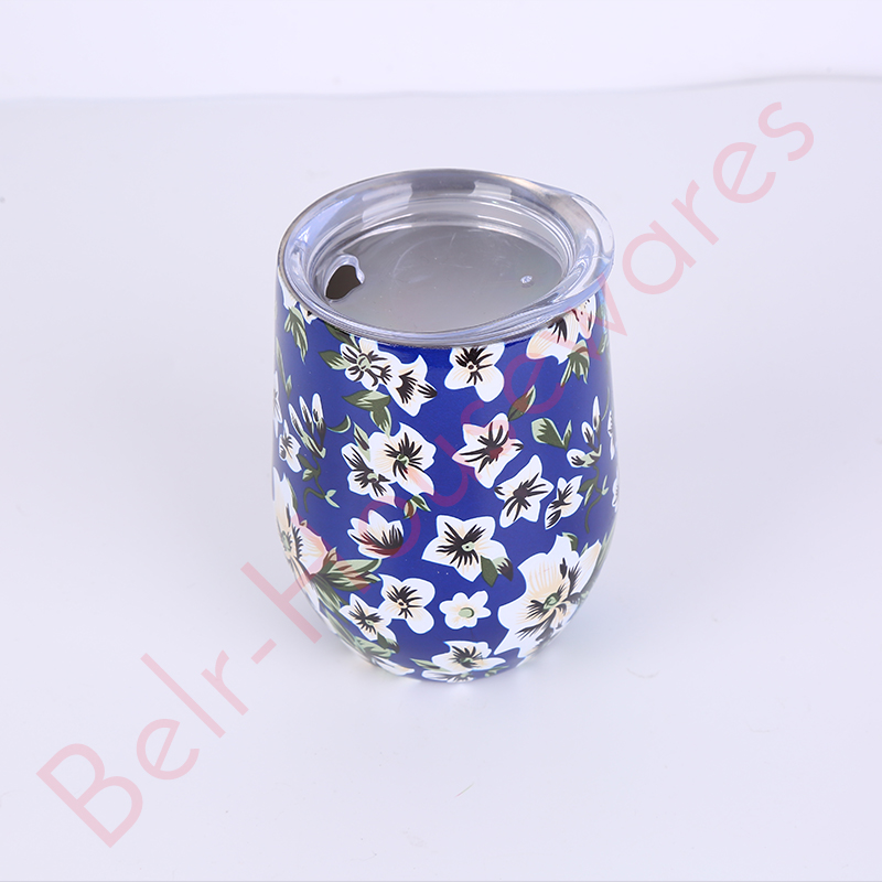 Stainless Steel Wine Tumbler With Straw Hole For Cup Surface For Storing Beverage 9