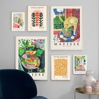 Matisse-lirios de agua Monet para jardín, carteles e impresiones Vintage, cuadro sobre lienzo para pared, imágenes para decoración para sala de estar